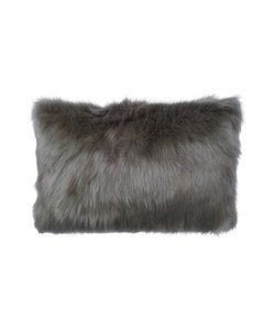 Sierkussenhoes Fur taupe 35x50 cm
