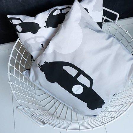 ANNIdesign Kinderkussen AUTO #1 | Grijs