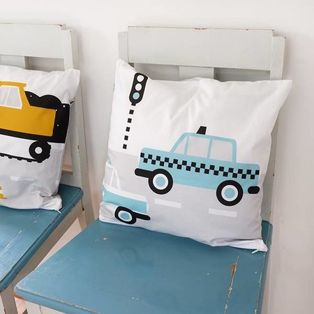 ANNIdesign Kinderkussen AUTO  | Blauw