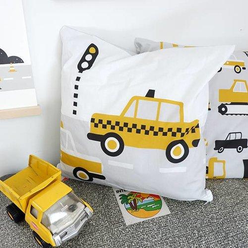 ANNIdesign Kinderkussen AUTO  | Oker