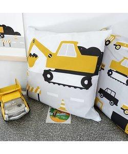 Children's pillow EXCAVATOR | Ocher