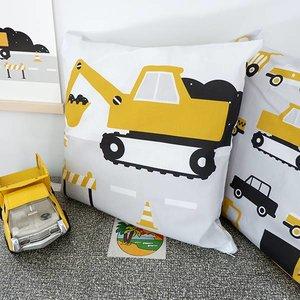 ANNIdesign Children's pillow EXCAVATOR | Ocher