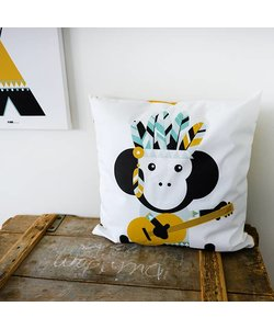 Children's pillow INDIAN MONKEY Ocher