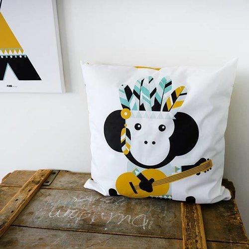 ANNIdesign Children's pillow INDIAN MONKEY Ocher