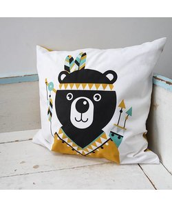 Children's cushion INDIAN BEAR | Ocher