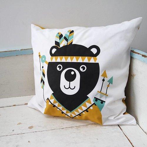 ANNIdesign Children's cushion INDIAN BEAR | Ocher