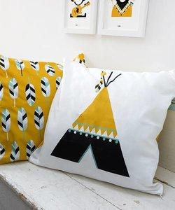 Children's pillow INDIAN TIPI | Ocher - Copy
