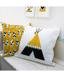 Children's pillow INDIAN TIPI | Ocher - Copy
