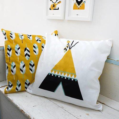 ANNIdesign Children's pillow INDIAN TIPI | Ocher 40x40 cm - Copy