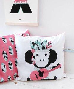 Children's pillow INDIAN MONKEY Pink