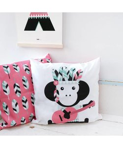 Children's pillow INDIAN MONKEY Pink