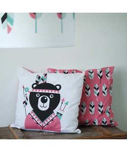Children's cushion INDIAN BEAR | Ocher - Copy