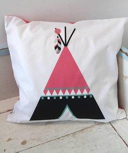 Children's pillow INDIAN TIPI | Pink