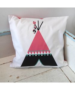 Children's pillow INDIAN TIPI | Pink