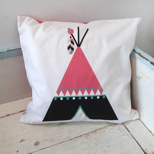 ANNIdesign Children's pillow INDIAN TIPI | Pink