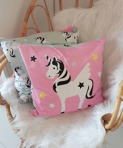 Children's pillow UNICORN Pink / green