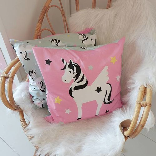 ANNIdesign Children's pillow UNICORN Pink / green
