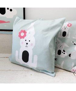 Children's pillow RABBIT | Old green