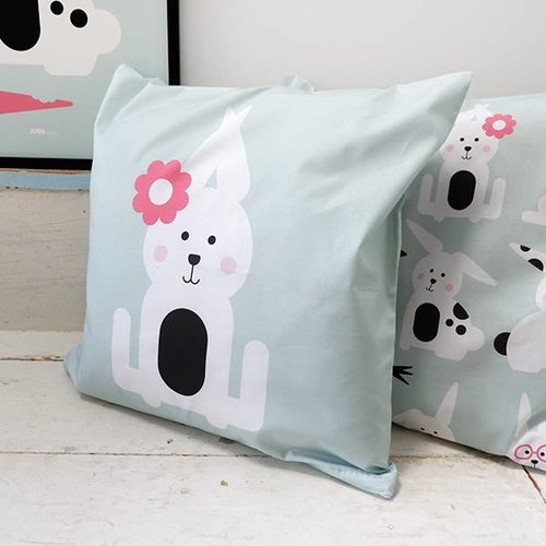 ANNIdesign Children's pillow RABBIT | Old green