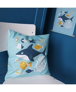 Children's pillow UNDERWATER | Blue