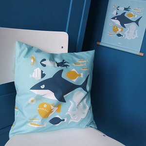 ANNIdesign Children's pillow UNDERWATER | Blue