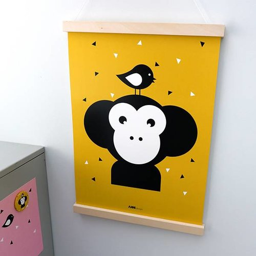 ANNIdesign POSTER MONKEY BABY ROOM | OCHER