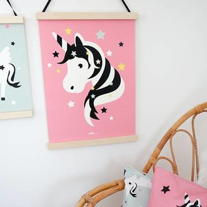 ANNIdesign POSTER UNICORN # 2 BABY ROOM | PINK
