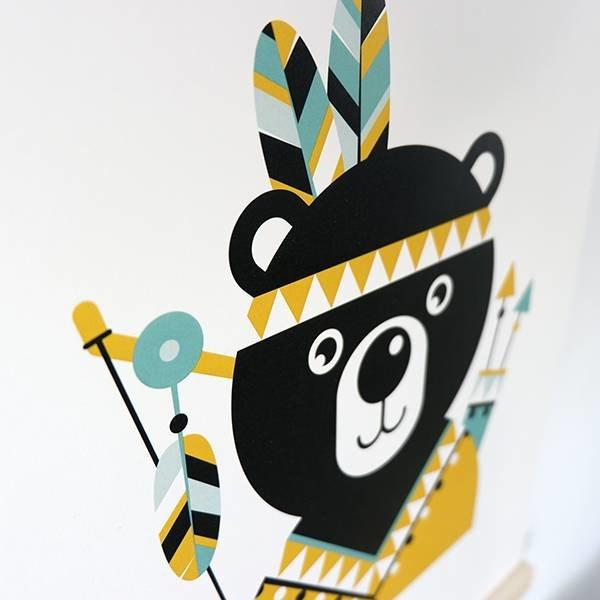 POSTER INDIAAN BEER  BABYKAMER | OKER