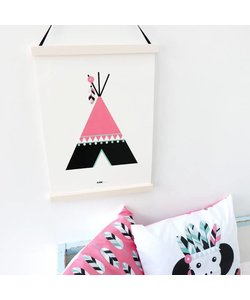 POSTER INDIAAN TIPI | ROZE