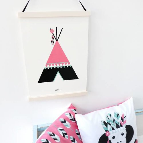 ANNIdesign POSTER INDIAN TIPI | PINK