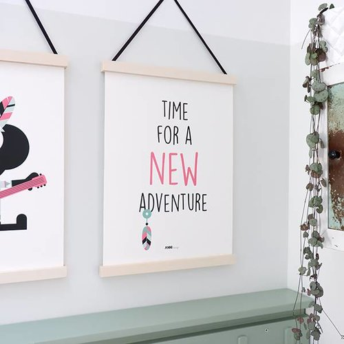 ANNIdesign POSTER NEW ADVENTURE | PINK