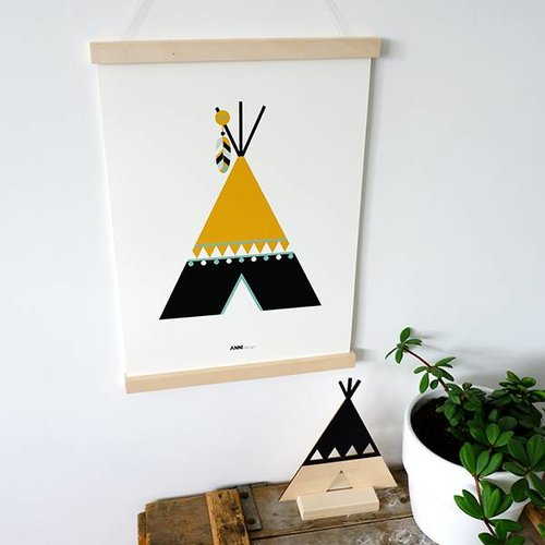 ANNIdesign POSTER INDIAN TIPI | Ocher