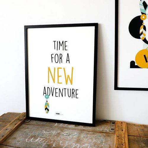 ANNIdesign POSTER NEW ADVENTURE | Ocher