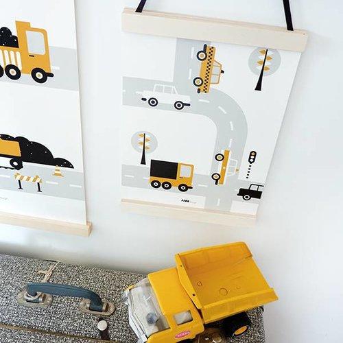 ANNIdesign POSTER VEHICLES BABY ROOM | CARS OKER