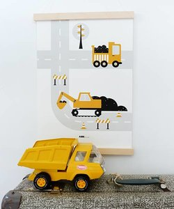 POSTER VEHICLES | EXCAVATOR OKER