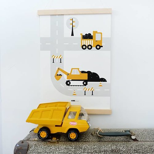 ANNIdesign POSTER VEHICLES | EXCAVATOR OKER