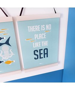POSTER ONDERWATER | NO PLACE BLAUW