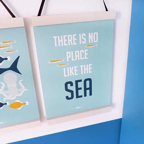 ANNIdesign POSTER UNDERWATER NO PLACE BLUE