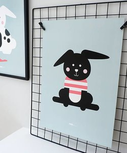 POSTER RABBIT WITH SHIRT | OLD GREEN