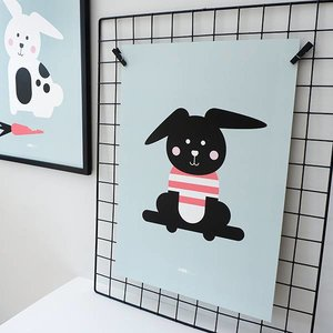 ANNIdesign POSTER RABBIT WITH SHIRT | OLD GREEN