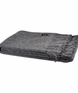 Alpaca Throw | Dark grey