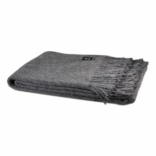Van Buren Bolsward  Alpaca Throw | Dark grey