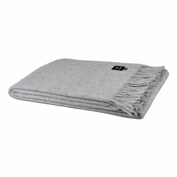 Alpaca Throw blanket | Light grey 200x150 cm