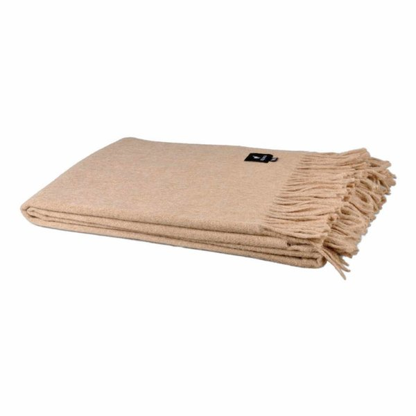 Alpaca Throw Blanket | Light beige 200x150 cm