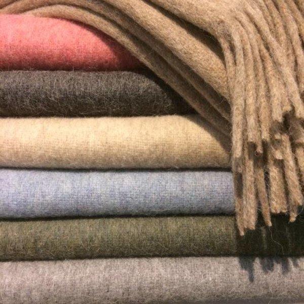 Alpaca Throw blanket | Dark grey 200x150 cm