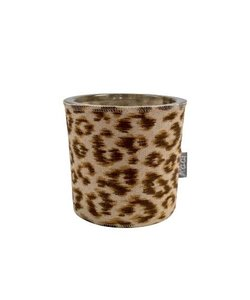 Waxine light holder Panter brown