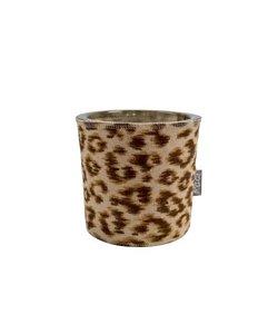 Waxine light holder Panter brown