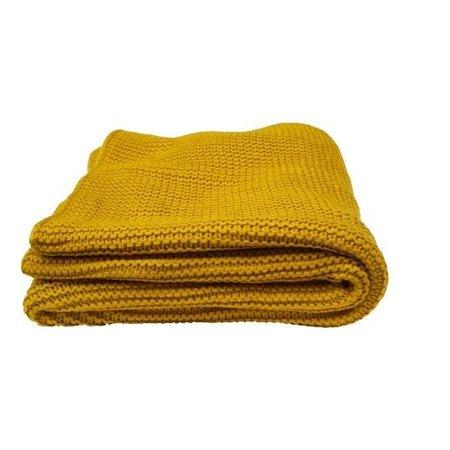 Raaf Plaid Spring geel | 130x170 cm