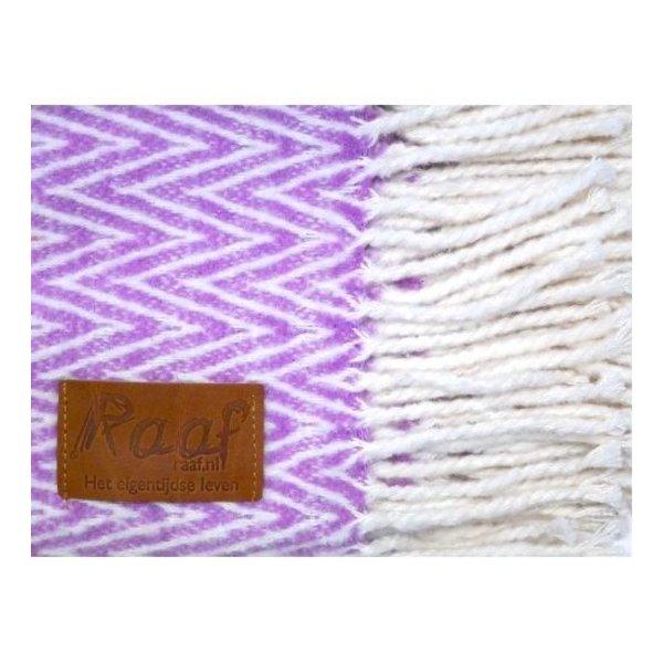 Plaid visgraat roze   130x170 cm
