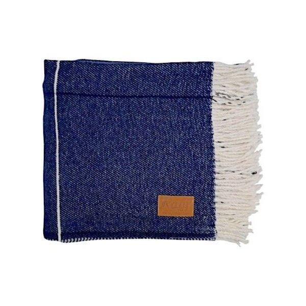 PLAID GROVE WINDOW DARK BLUE | 130x170cm